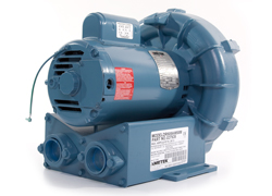AMETEK DFS photo of Regenerative blower: draws in air or other gases into the blower.
