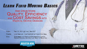 Learn Fluid Moving Basics for Medical Devices